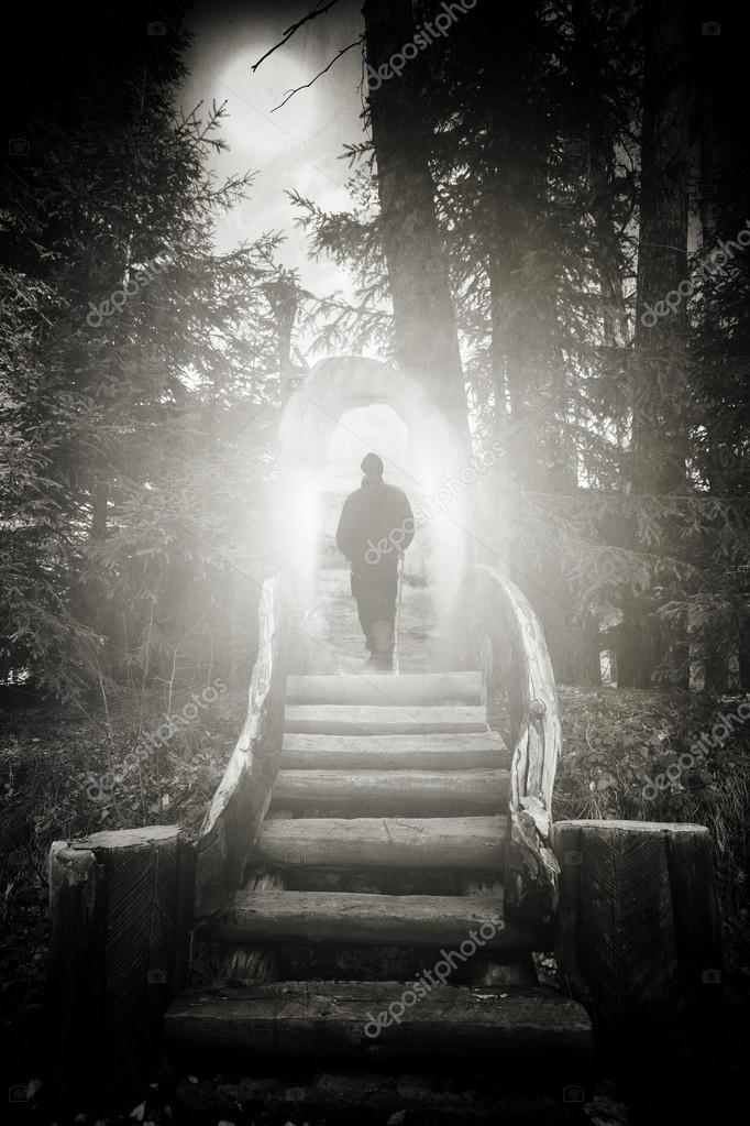 Фотообои Abstract man silhouette