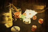 Vintage poker — Stock Photo