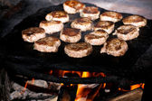 Forest bbq — Stock Photo