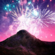 Stock Photo: Abstract fireworks