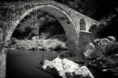 Stone bridge in bw — Stock Photo