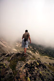 Tracker in bulgarian mountain — Stock Photo