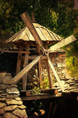 Vintage wooden mill — Stock Photo