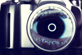Camera and eye — Stock Photo