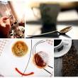 Cofe collage — Stock Photo
