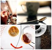 Cofe collage — Stock Photo