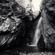Bw waterfall — Stock Photo