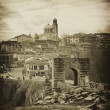 Vintage tarnovo landscape — Stock Photo