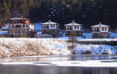 Eco village in winter  — Stockfoto