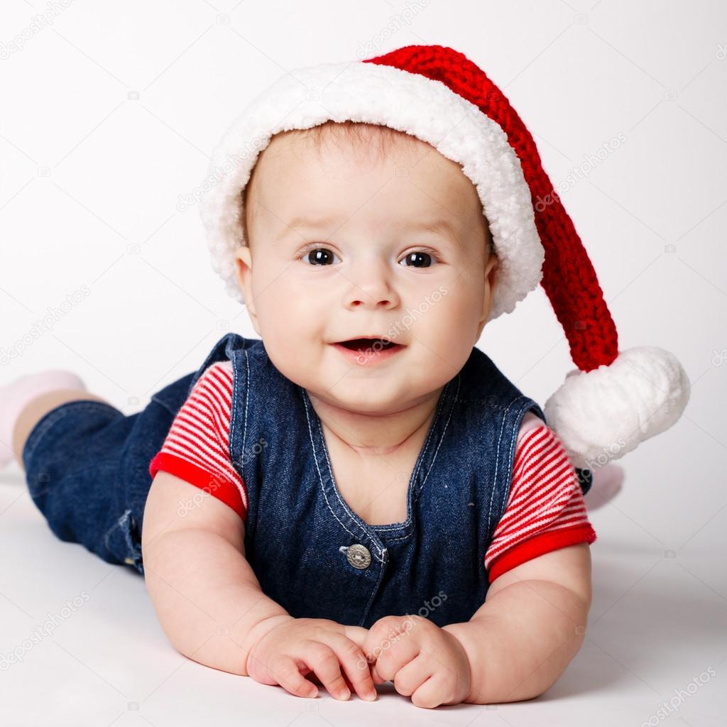 小可爱的圣诞老人画像 — 图库照片#14964417