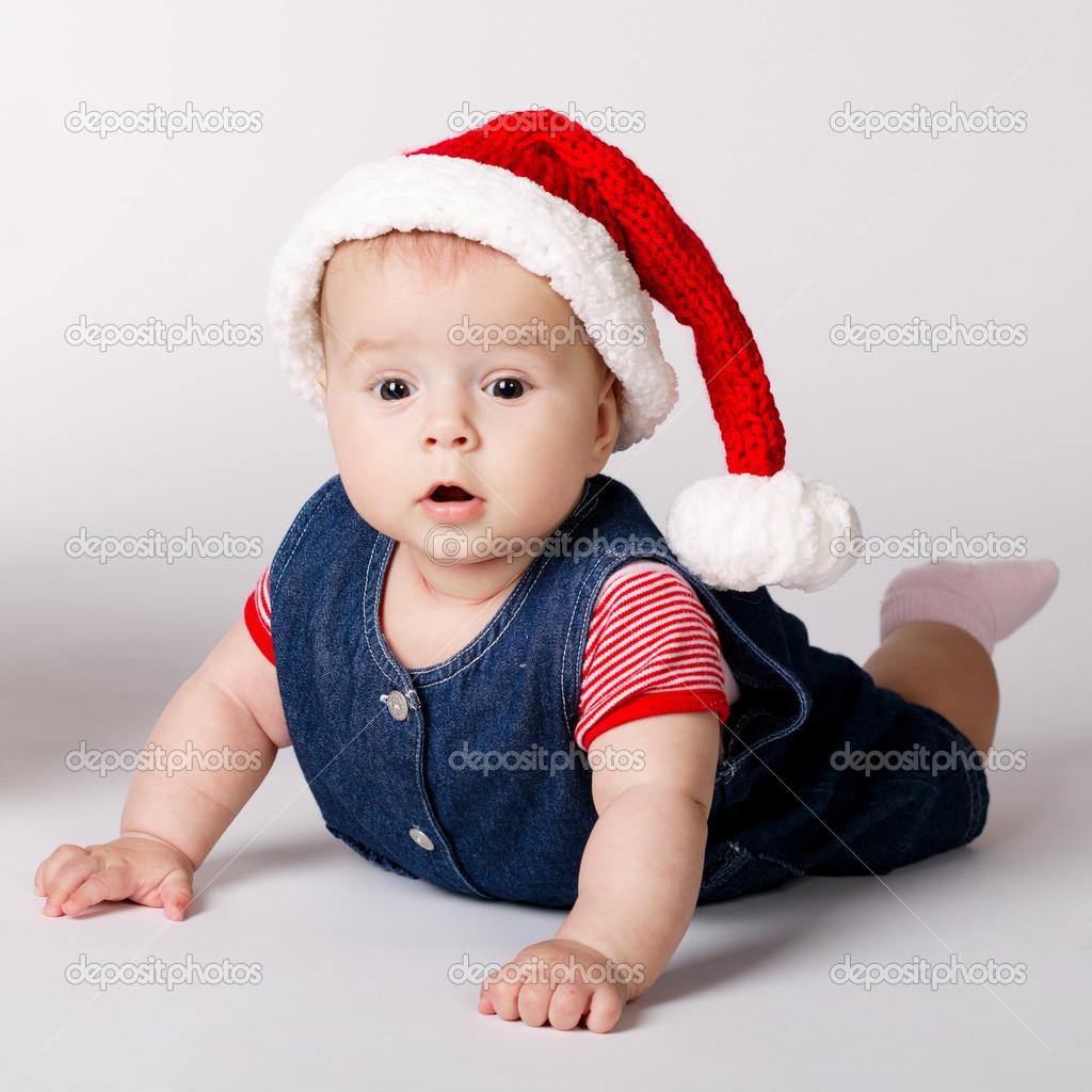 小可爱的圣诞老人画像
