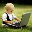 Child with laptop — Stock Photo #17696237
