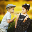 Cute boy and girl — Stock Photo