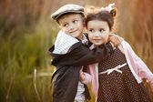Happy boy and girl — Stock Photo