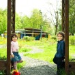 Children in the gate — Stock Photo