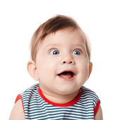 Beautiful adorable happy cute smiling baby — Stock Photo