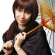 Beautiful girl with japan umbrella — Stock Photo #25585399