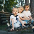 Little boys riding on a swing — Stock Photo #29882331