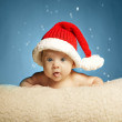 Little cute girl with santa hat — Stock Photo #31928031
