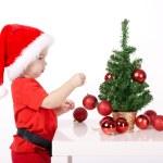 Little boy with Santa hat — Stock Photo