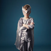 Little super hero portrait — Stock Photo