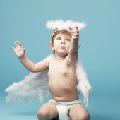 Beautiful little angel — Stock Photo