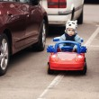 Little boy on parking — Stock Photo #37510679