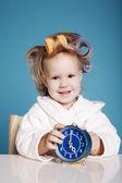 Cute little girl on morning — Stock Photo