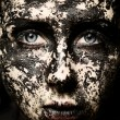Portrait of beautiful woman - Dried skin concept — Stock Photo #41037817