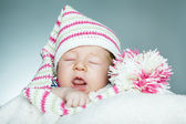 Little funny sleepeng baby — Stock Photo