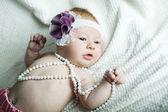 Cute little ballerina portrait — Stock Photo