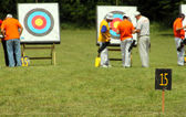 Archery range — Stock Photo