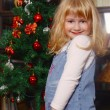 Girl and xmas — Stockfoto