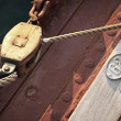 Sail pulley — Stock Photo