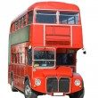 Stock Photo: Isolated London double decker bus