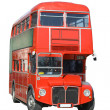 Isolated London double decker bus — Stock Photo