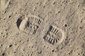 Boot footstep — Stock Photo