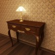 Old antique table — Stock Photo #2694062