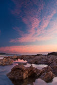 Sunrise over the sea with the sun — Stock Photo