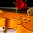 Royalty-Free Stock Photo: Violin sheet music and rose
