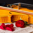 Violin sheet music and rose — Stock Photo #29146043