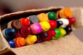 Lápices de colores en un paquete, el foco en el medio — Foto de Stock