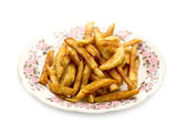 French fries on a plate — Stockfoto