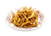 Franse frietjes op een plaat — Stok fotoğraf