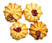 Biscoitos sobre um fundo branco — Zdjęcie stockowe