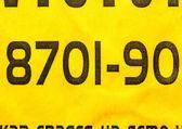 Fondo de papel amarillo con números — Foto de Stock