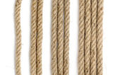 Close up of rope part , on white background — Stock Photo