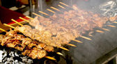 Skewers of pork — Stock Photo