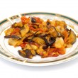 Stewed eggplant with tomato — Stock Photo