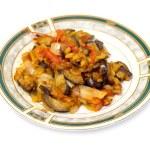 Stewed eggplant with tomato — Stock Photo